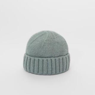 ザラキッズ(ZARA KIDS)の完売 新品 ZARA KIDS ザラキッズ ニットビーニー帽 ブルー(帽子)