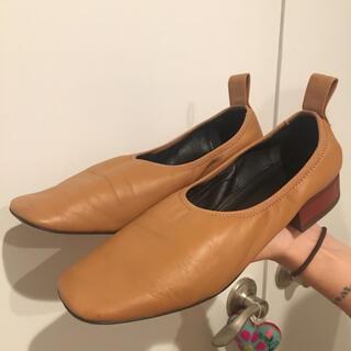 ロエベ(LOEWE)の美品 Loewe ロエベ バレリーナシューズ フラット 39 タンカラー(ローファー/革靴)