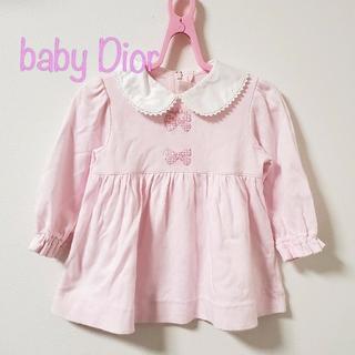 baby Dior - 【80】ベビーディオール 長袖 チュニック ワンピース