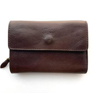 イルビゾンテ(IL BISONTE)の【難あり】イルビゾンテ IL BISONTE ウォレット 二つ折り財布 こげ茶(折り財布)