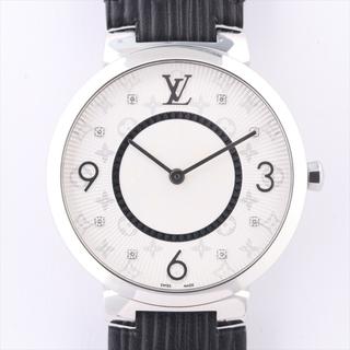 LOUIS VUITTON - ヴィトン タンブールスリム SS×革   レディース 腕時計
