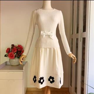 エムズグレイシー(M'S GRACY)の美品 エムズグレイシー  未使用に近い定番デザインニット&美品スカート2点セット(セット/コーデ)