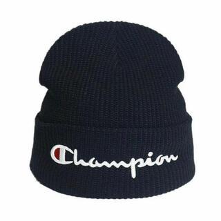 チャンピオン(Champion)の【新品未使用】Champion  (チャンピオン) ブラック ニット帽  (ニット帽/ビーニー)