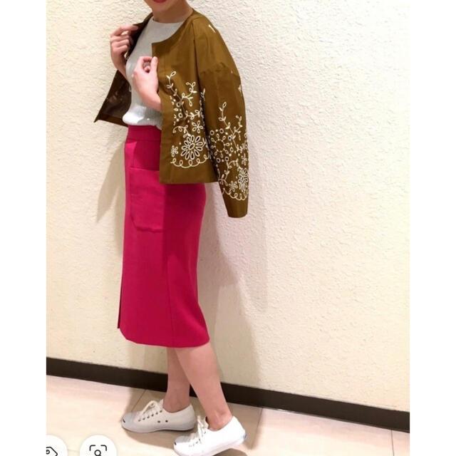 anatelier(アナトリエ)のanatelierアナトリエ19S/Sミモレ丈タイトスカート15,400円 レディースのスカート(ひざ丈スカート)の商品写真
