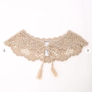 サマンサモスモス(SM2)の手編みかぎ針ニットつけ衿(つけ襟)