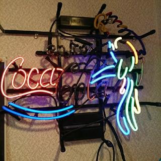 コカコーラ(コカ・コーラ)の[に~様専用]ジャンク品 コカ・コーラネオン看板(置物)
