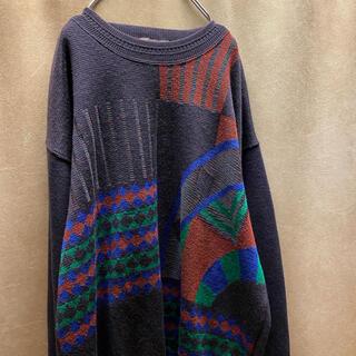 アートヴィンテージ(ART VINTAGE)の90s staffa アートニット 古着 柄 セーター vintage(ニット/セーター)