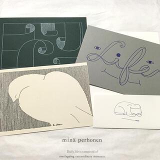 ミナペルホネン(mina perhonen)のミナペルホネン つづく展 ポストカード ケース付き3枚セット(その他)