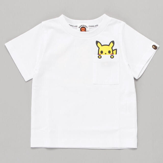 A BATHING APE - PIKACHU POCKET TEE K POKEMON