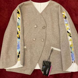 レオナール(LEONARD)の新品 レオナール ジャケット ウールコート (ノーカラージャケット)