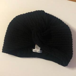 トゥデイフル(TODAYFUL)のLa Maison de Lyllis ニットターバン ブラック 未使用品(ニット帽/ビーニー)