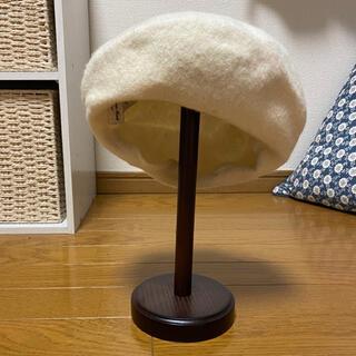 サマンサモスモス(SM2)のsm2 ベレー帽 白(ハンチング/ベレー帽)