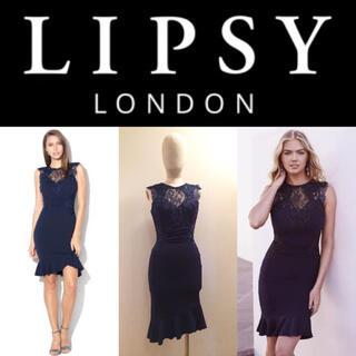 リプシー(Lipsy)の【LIPSY】2018SS レース付きミニドレス♡ ワンピース (ミニドレス)