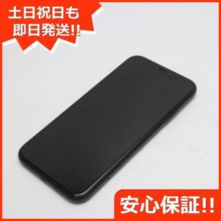 アイフォーン(iPhone)の超美品 SIMフリー iPhoneXR 128GB ブラック 白ロム (スマートフォン本体)