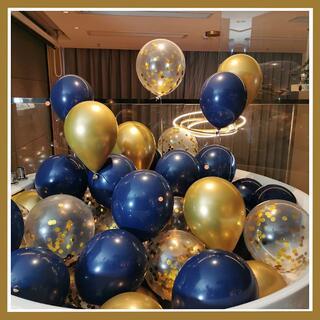 風船 バルーン 誕生日お祝い 記念日 誕生日 (18個入り)ブラックブルー(ウェルカムボード)