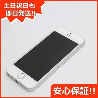 アイフォーン(iPhone)の美品 SIMフリー iPhoneSE 16GB シルバー (スマートフォン本体)