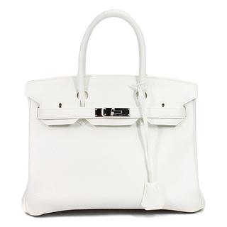 Hermes - エルメス  ハンドバッグ  バーキン30  □R刻印 ホワイト