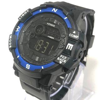 新品 HONHX デジタルLEDウォッチ ストップウォッチ ミドルサイズスポーツ(腕時計(デジタル))