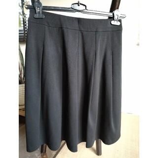 ソフトプリーツスカート(ひざ丈スカート)