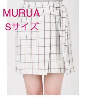ムルーア(MURUA)の新品タグ付き☆定価5900円 MURUA ミニチェック プリーツスカート(ミニスカート)