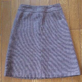 インディヴィ(INDIVI)のインディヴィ  INDIVI  台形スカート ツイードスカート(ひざ丈スカート)
