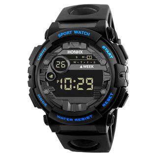 新品 HONHX デジタルウォッチ ボーイズ・レディース スモールサイズ ブルー(腕時計(デジタル))