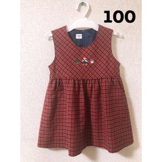 familiar - 大幅値下げ中♡♡familiar ファミリアチェック♡♡ワンピース100