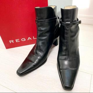 REGAL - 美品!REGAL リーガル 23.0 日本製 ブラック 本革 ショートブーツ