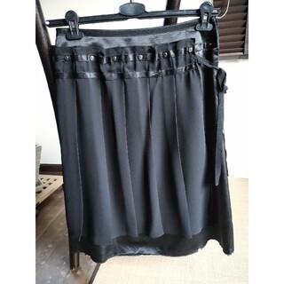 マジェスティックレゴン(MAJESTIC LEGON)の異素材スカート ひざ丈長め(ひざ丈スカート)