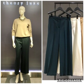 Theory luxe - 【スモール】theory luxe☆秋冬ウールパンツ/32/ダークグリーン