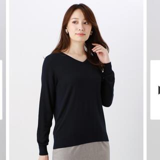 スーツカンパニー(THE SUIT COMPANY)の新品・未使用♡シンプル ネイビー ニット(ニット/セーター)