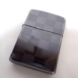 ジッポー(ZIPPO)のAA381 zippo 市松柄 チェック ブラック 鬼滅の刃(タバコグッズ)