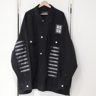 ラフシモンズ(RAF SIMONS)のラフシモンズ 名作 18ss メンズ デニムシャツ ジャケット  権力の美学 S(Gジャン/デニムジャケット)