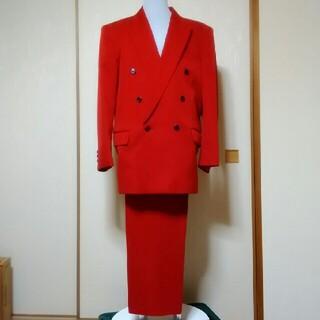赤 スーツ (スーツジャケット)