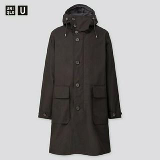 ユニクロ(UNIQLO)のユニクロユー フーデッドコート ブラック M 新品(モッズコート)