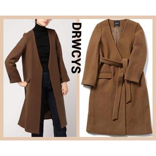 DRWCYS - DRWCYS  ベルト付きノーカラーコート