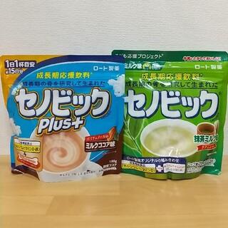 ロートセイヤク(ロート製薬)の【新品】セノビックPlus+ミルクココア味/セノビック抹茶ミルク味 各1袋(その他)
