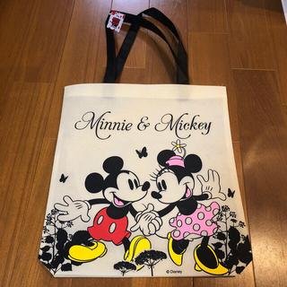 ミッキーマウス(ミッキーマウス)の新品未使用★ミッキー&ミニー★不織布トートバッグ(トートバッグ)
