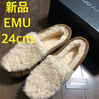 エミュー(EMU)の新品★EMU エミュー ケアンズ カーリーファー モカシン ムートン(スリッポン/モカシン)
