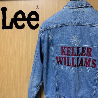 リー(Lee)の古着 Lee リー デニムジャケット Gジャン 刺繍入り 90s ヴィンテージ(Gジャン/デニムジャケット)