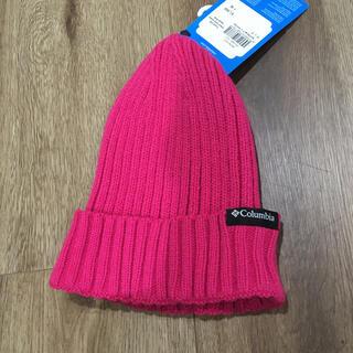 コロンビア(Columbia)のホイップクリーム様専用 試着のみ子供用Columbia  ニット帽子(帽子)