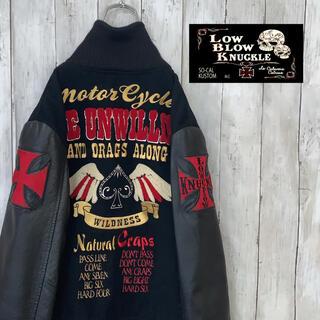 ハーレーダビッドソン(Harley Davidson)の【激レア!】ロウブロウナックル ナチュラルインフィニティー ジャケット 刺繍(ライダースジャケット)