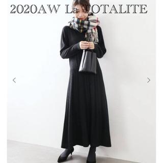 La TOTALITE - 2020AW La TOTALITE ランダムリブワンピース グレー