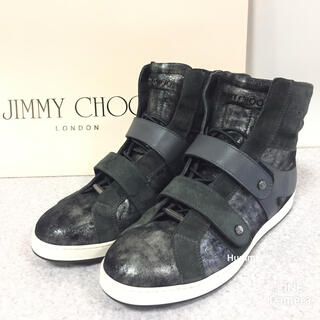 JIMMY CHOO - 国内正規品 ジミーチュウ ハイカット スニーカー 39 24.5〜25 極美品!