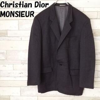 Christian Dior - クリスチャンディオールムッシュ 1ボタン テーラードジャケット チャコールグレー