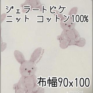 ジェラートピケ(gelato pique)のgelato pique  ニット生地 ラビット 布幅90㎝×長さ100㎝ 新品(生地/糸)