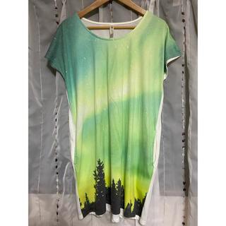 グラニフ(Design Tshirts Store graniph)のDesign Tshirts Store graniph Tシャツワンピース(Tシャツ(半袖/袖なし))