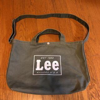 リー(Lee)のLee 2way トートバッグ ショルダーバッグ  カーキ(トートバッグ)