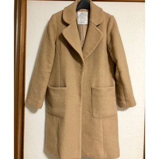 ヘザー(heather)のウールコート キャメル 最終価格(チェスターコート)