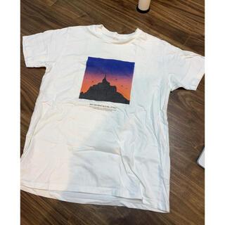 グラニフ(Design Tshirts Store graniph)のグラニフ Tシャツ 白Tシャツ Lサイズ モンサンミッシェル(Tシャツ/カットソー(半袖/袖なし))